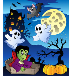 Scene with halloween theme 2 vector