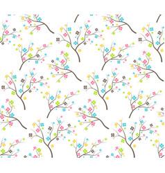 Seamless bright fun abstract spring summer flower vector