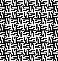 Seamless monochrome stripe pattern vector image
