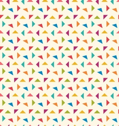 Seamless Pattern with Colorful Geometric Objects vector image