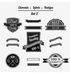 Set 2 elements labels and badges vector image