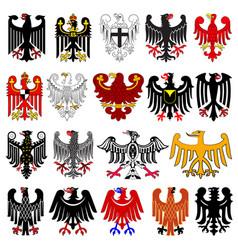 Set of heraldic german eagles vector