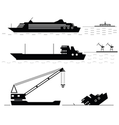 Set Ships vector image
