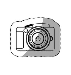 silhouette technology professional camera icon vector image