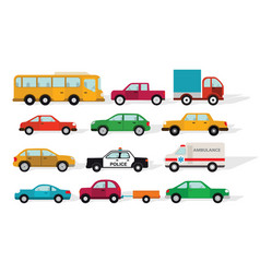 simple cars vector image