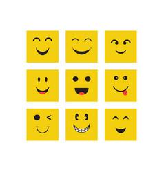 Smile face expression design template vector