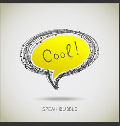 speach bubble vector image