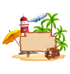 summer island on white background vector image