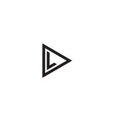 Triangle dl or ld logo symbol icon graphic design vector