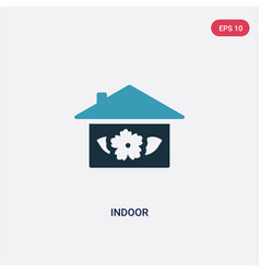 two color indoor icon from nature concept vector image