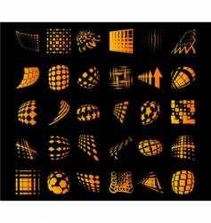 various dots dynamic objects vector image