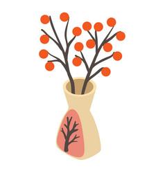 Vase icon isometric style vector