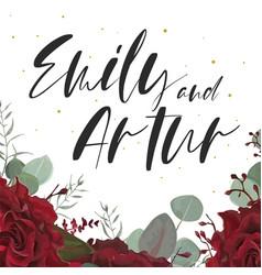 Wedding elegant invite save date floral card vector
