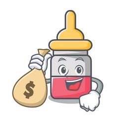 With money bag nassal drop character cartoon vector
