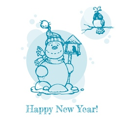 Christmas or New Year Card vector image