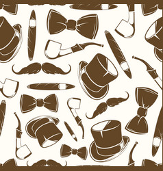 getlemen seamlss pattern - vintage background vector image vector image