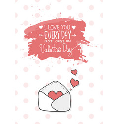 hearts take off from inside open envelope vector image vector image