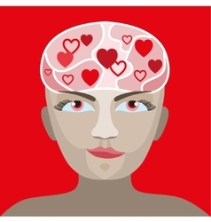 Love concept with human head vector image