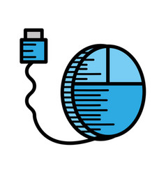 Mouse cable usb computer vector