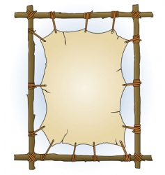 primitive sticks and canvas frame vector image vector image