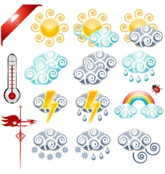 Weather icons small vector image vector image