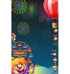 A circus show at the carnival vector image