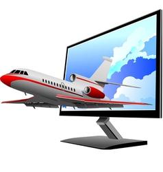 Al 0812 plane with screen 03 vector