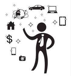 businessman needs in future vector image