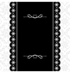 Card design vintage ornate frame vector image vector image