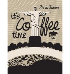 coffee Rio de Janeiro vector image