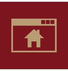 Homepage icon design Home Homepage vector image