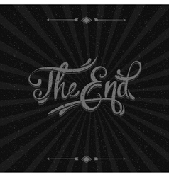Movie ending screen background vector image vector image