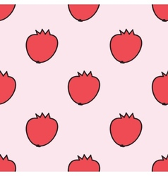 Seamless hand-drawn pattern with pomegranate vector image vector image