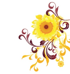 sun flower graphic vector image vector image
