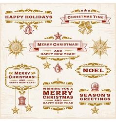 Vintage Christmas Labels vector image