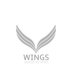 Wings logo icon vector image vector image