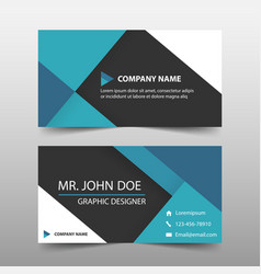 blue corporate business card name card template vector image