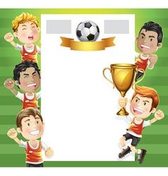 Children Soccer Scoreboard vector image vector image