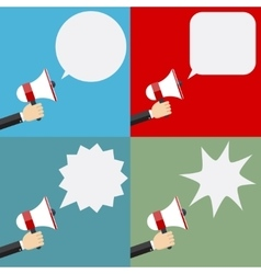 megaphone and speech bubbles vector image vector image