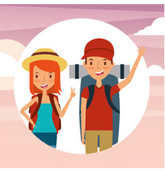 people travelers vacations vector image vector image