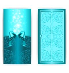 royal invitation card with bow vector image vector image