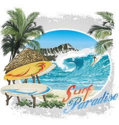 surf paradise vector image