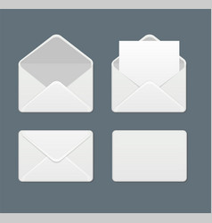 realistic template blank mail envelope set vector image
