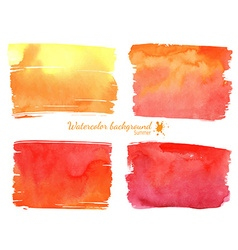 Red and orange watercolor banner vector image vector image