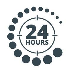 24 hours around black vector image