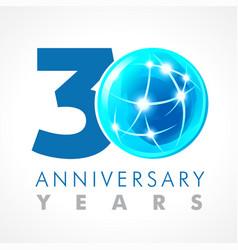 30 anniversary connecting logo vector