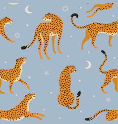 Abstract leopard pattern on dreamy celestial vector