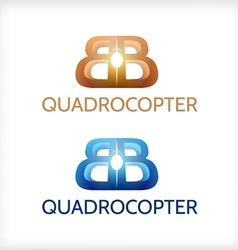 Abstract of sign for Quadrocopter vector image