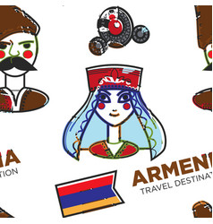 armenia travel destination armenian man and woman vector image