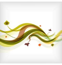 Autumn seasonal wave modern background vector image
